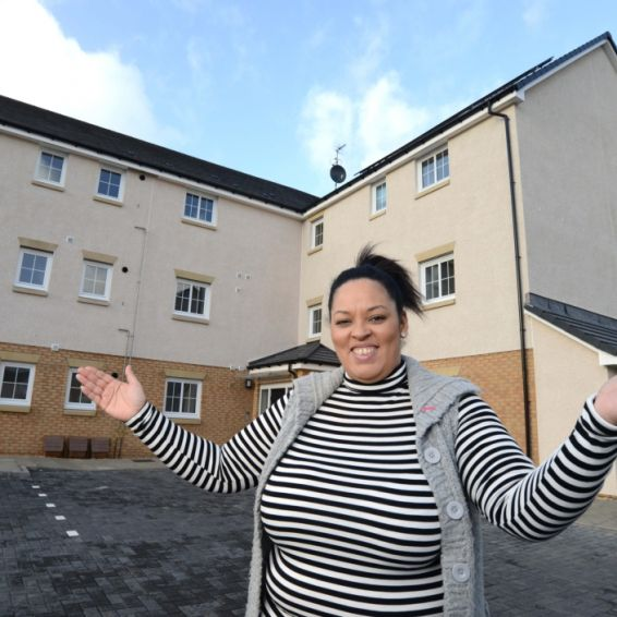 Nattalie McCulloch is delighted with her home in Braehead.