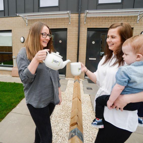 Tenants move into new Barlanark homes